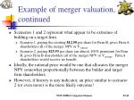 example of merger valuation continued21