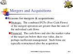mergers and acquisitions6