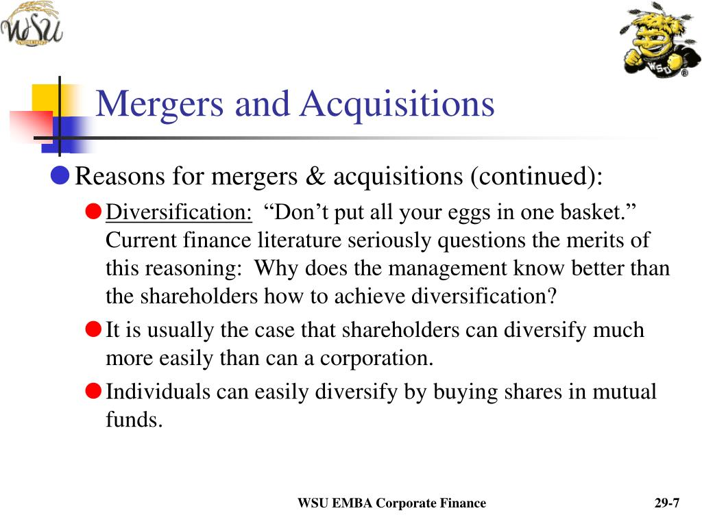 mergers and acquisitions as a mode