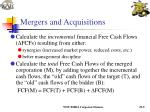 mergers and acquisitions9