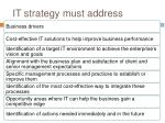 it strategy must address
