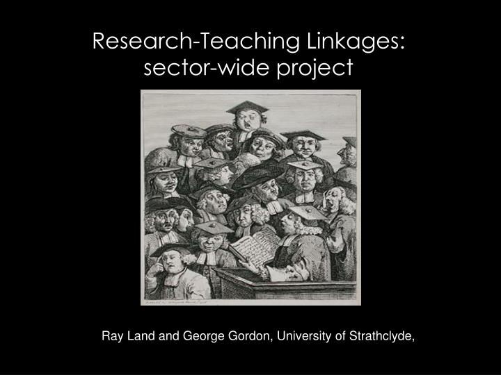 research teaching linkages sector wide project n.