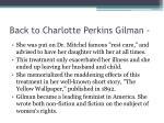 back to charlotte perkins gilman