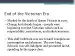 end of the victorian era