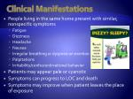 clinical manifestations1
