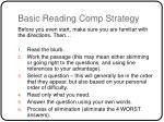 basic reading comp strategy