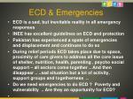 ecd emergencies