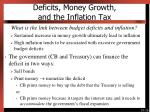 deficits money growth and the inflation tax