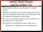 deficits money growth and the inflation tax1