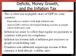 deficits money growth and the inflation tax2