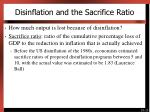 disinflation and the sacrifice ratio
