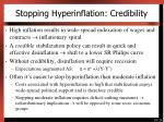 stopping hyperinflation credibility