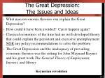 the great depression the issues and ideas