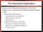 the keynesian explanation