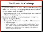 the monetarist challenge