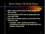 part time vs full time