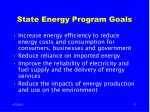 state energy program goals