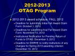 2012 2013 otag program1