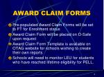 award claim forms