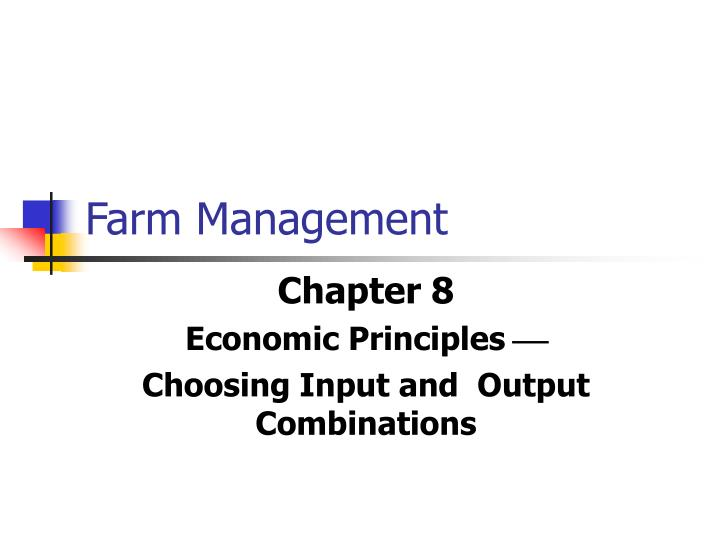 farm management n.
