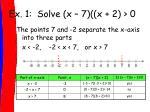 ex 1 solve x 7 x 2 01