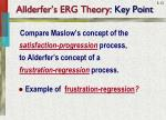 allderfer s erg theory key point