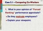 case 5 1 comparing co workers