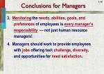 conclusions for managers1