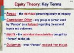 equity theory key terms