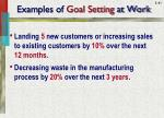 examples of goal setting at work