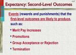 expectancy second level outcomes