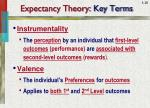 expectancy theory key terms