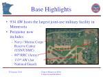 base highlights