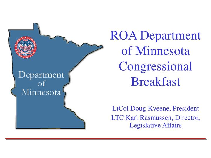 roa department of minnesota congressional breakfast n.