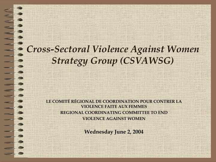 cross sectoral violence against women strategy group csvawsg n.