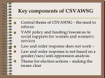 key components of csvawsg