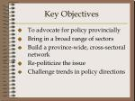 key objectives