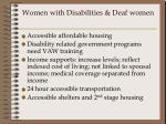 women with disabilities deaf women