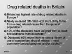 drug related deaths in britain