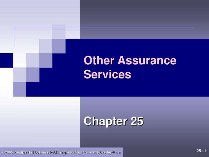 other assurance services n.