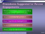 procedures suggested for review engagements