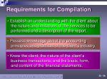 requirements for compilation