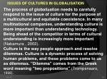 issues of cultures in globalisation
