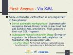 first avenue via xml