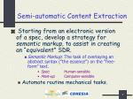 semi automatic content extraction