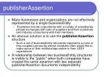 publisherassertion
