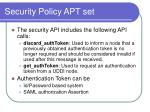 security policy apt set