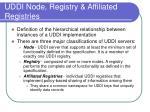 uddi node registry affiliated registries