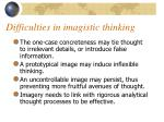 difficulties in imagistic thinking