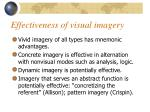 effectiveness of visual imagery